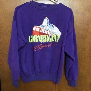 Vintage Tourist Sweatshirt from Switzerland Alps